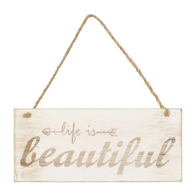 Living Space Beautiful Wall Plaque