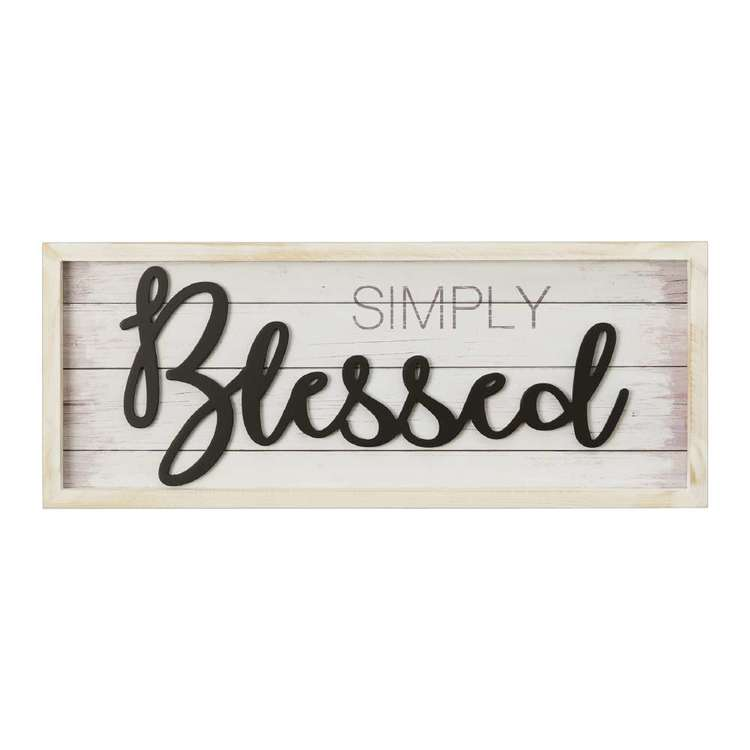 Living Space Blessed Wall Plaque