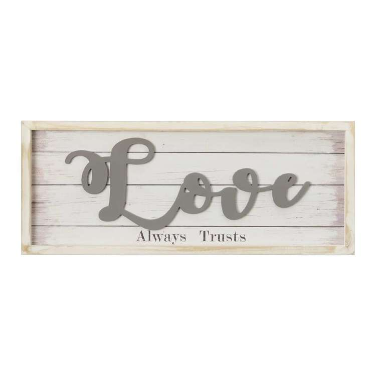 Living Space Love Wall Plaque