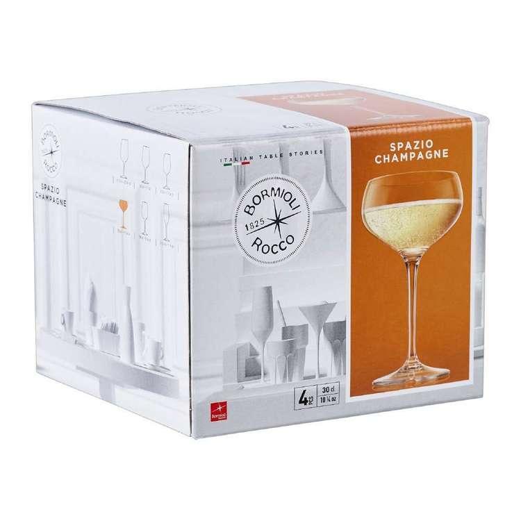 Bormioli Rocco Rococo Spazio Champagne Glass 4 Pack