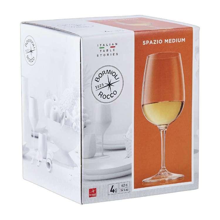 Bormioli Rocco Rococo Spazio Wine Glass 4 Pack