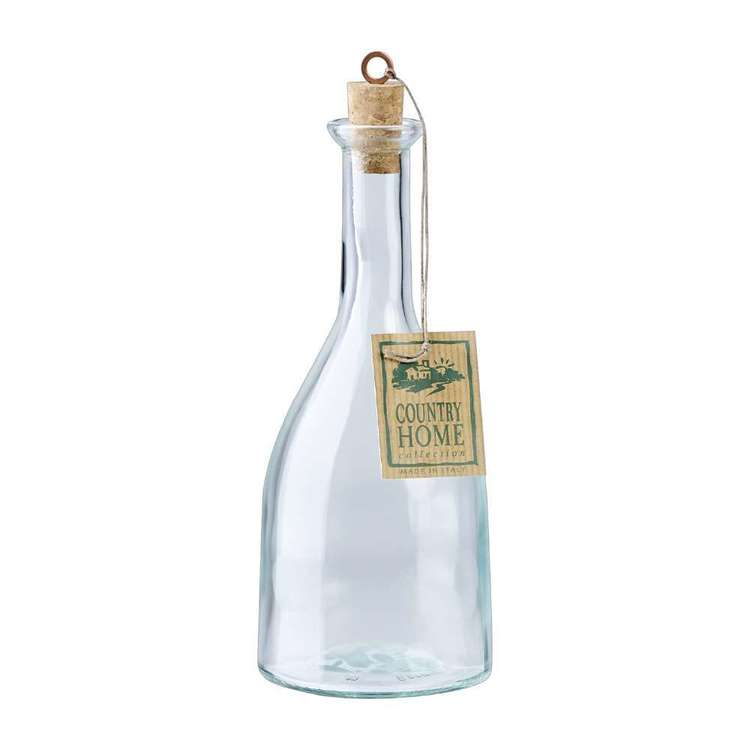 Bormioli Rocco Country Home Gotica Bottle With Cork Lid Clear 550 mL