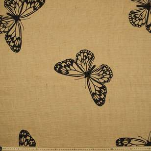 Butterfly Printed Hessian Fabric