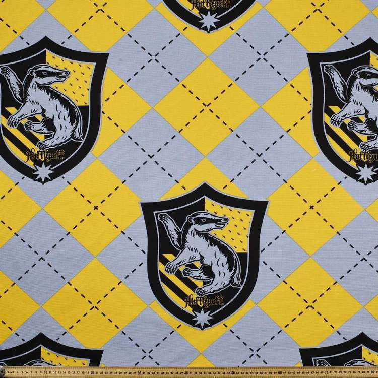 Harry Potter Hufflepuff Crest Curtain Fabric