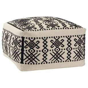 Bouclair Traveller's Retreat Patterned Ottoman