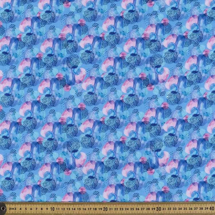 Abstract Digital Printed Organic Cotton Poplin