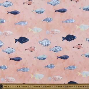 Tropical Fish Digital Printed Organic Cotton Poplin