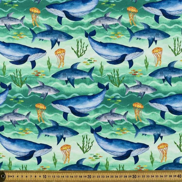 Sea Creatures Digital Printed Organic Cotton Poplin