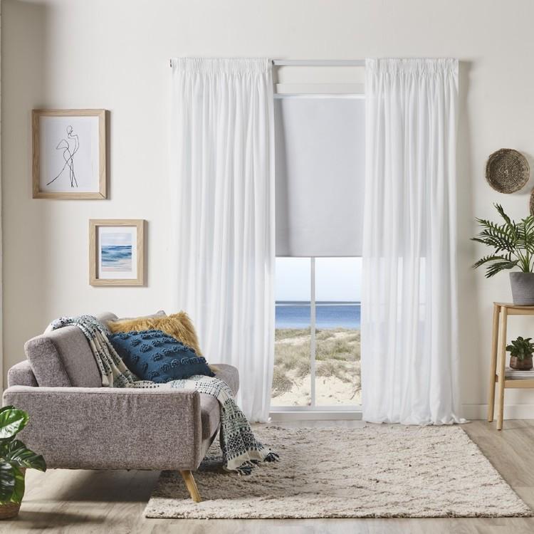 KOO Portsea Pencil Pleat Sheer Curtain