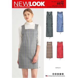 New Look Pattern 6572 Misses' Jumper Dress