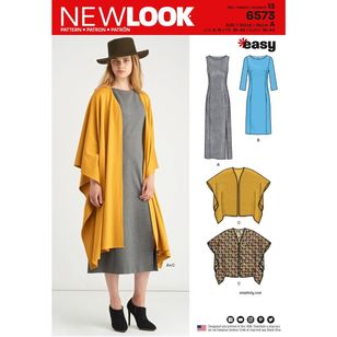 New Look Pattern 6573 Misses' Dress and Wrap