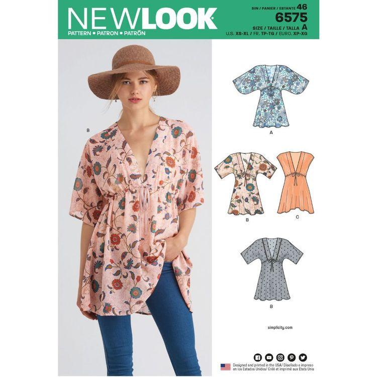 New Look Pattern 6575 Misses' Tunics