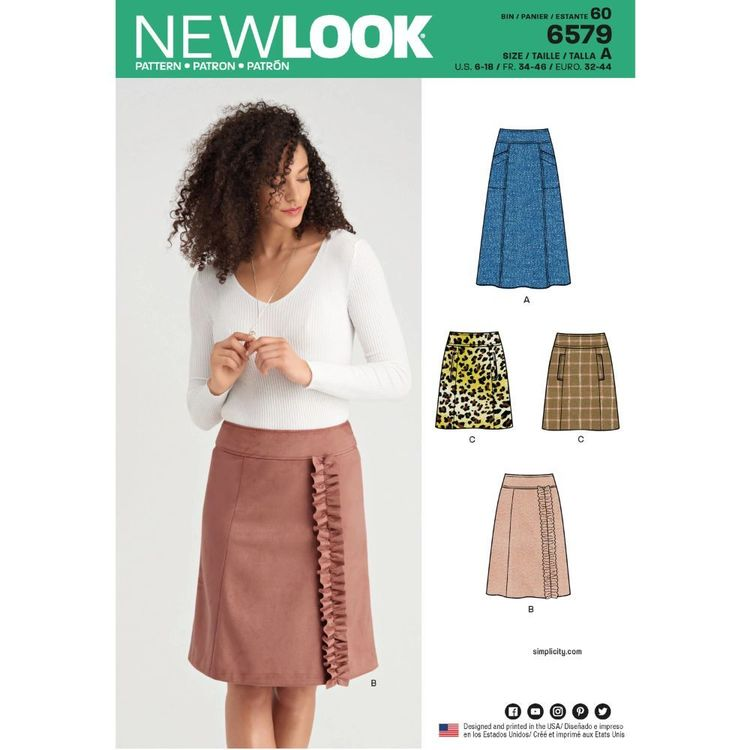 New Look Pattern 6579 Misses' Skirts