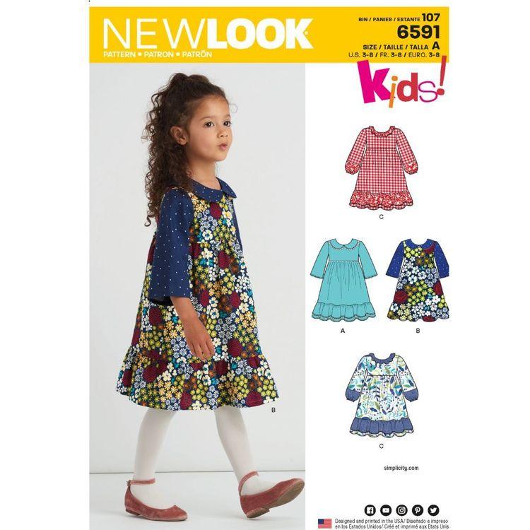 New Look Pattern 6591 Children's Dress