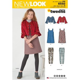 New Look Pattern 6592 Girls' Sportswear