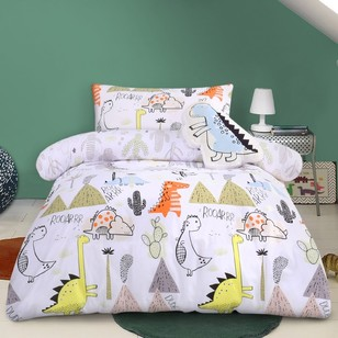 Kids House Dino Dude Quilt Cover Set