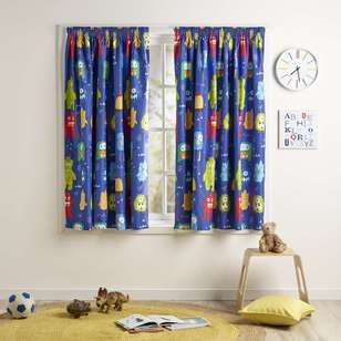 Ombre Blu Monster Mania Pencil Pleat Curtain