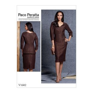 Vogue Pattern V1602 Paco Peralta Misses' Top And Skirt
