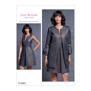 Vogue Pattern V1603 Isaac Mizrahi Misses' Dress And Jacket