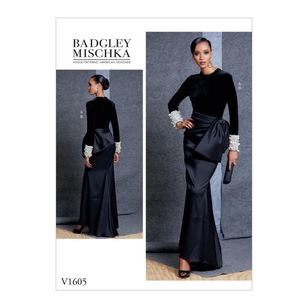 Vogue Pattern V1605 Badgley Mischka Platinum Misses' Top And Skirt