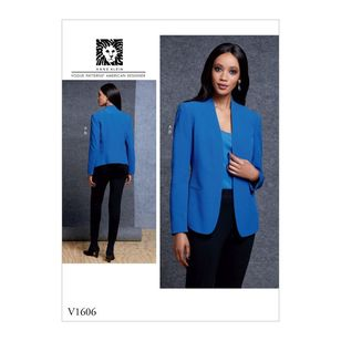 Vogue Pattern V1606 Anne Klein Misses' Jacket And Pants