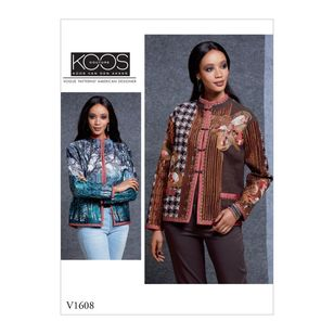 Vogue Pattern V1608 Koos van den Akker Misses' Reversible Jacket