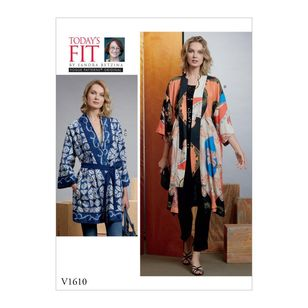 Vogue Pattern V1610 Today's Fit by Sandra Betzina Misses' Kimono And Belts