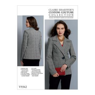 Vogue Pattern V9342 Clair Shaeffer's Custom Couture Collection Misses' Jacket