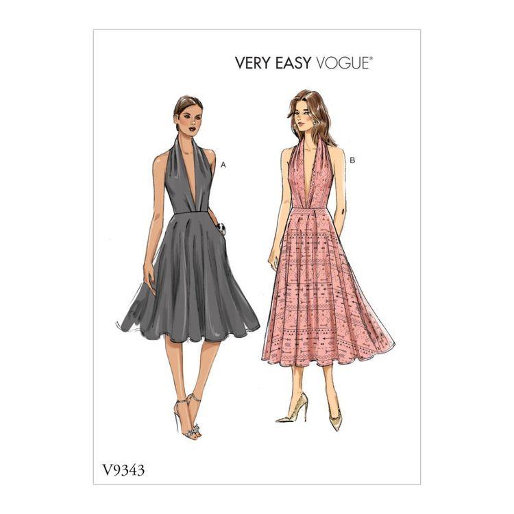Vogue Pattern V9343 Very Easy Vogue Misses' Dress