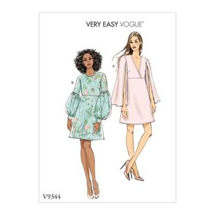 Vogue Pattern V9344 Very Easy Vogue Misses' Dress