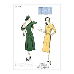 Vogue Pattern V9346 Vintage Model Misses' Dress