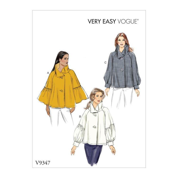 Vogue Pattern V9347 Very Easy Vogue Misses' Top