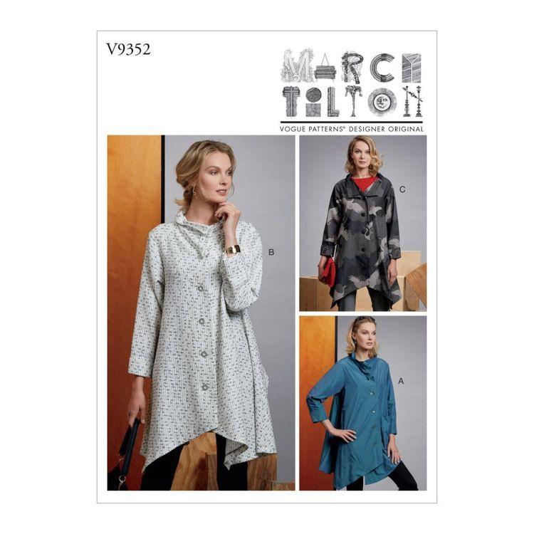 Vogue Pattern V9352 Marcy Tilton Misses' Coat