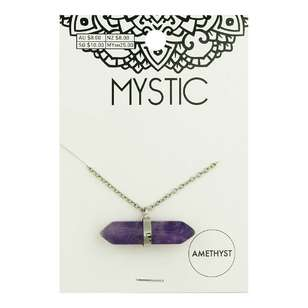 Horizontal Necklace Crystal
