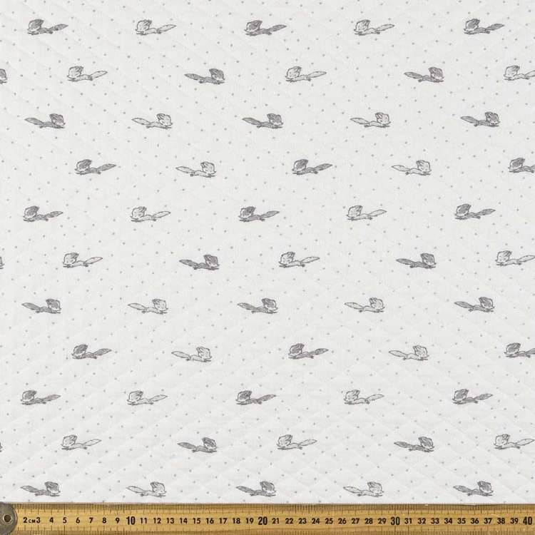 Fox Printed Quilted Fleece Fabric