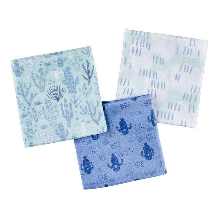 KOO Baby Dino Printed Muslin Wraps 3 Pack