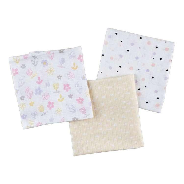 KOO Baby Jesse Printed Muslin Wraps 3 Pack