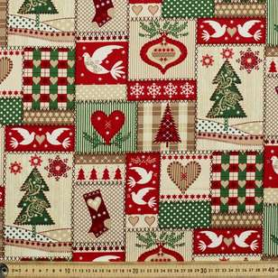 Christmas Patch Cotton Fabric