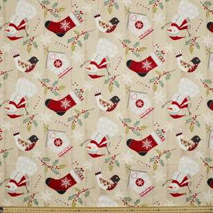 Christmas Tossed Allover Cotton Fabric