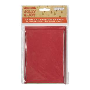 Jolly & Joy DIY C6 Craft Card and Envelopes 6 Pack