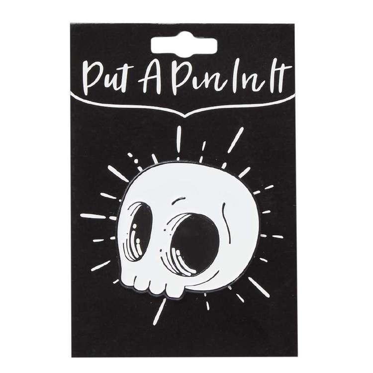 Skull Enamel Pin