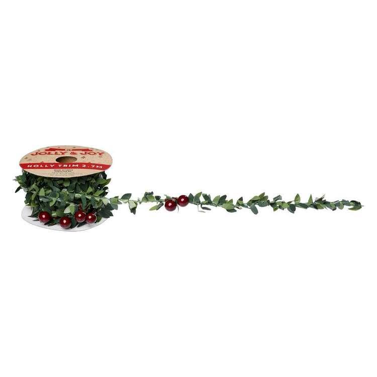 Jolly & Joy DIY Holly and Berry Leafy Trim