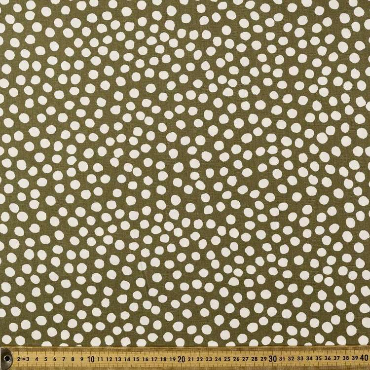 Dots Printed Buzoku Cotton Duck Fabric