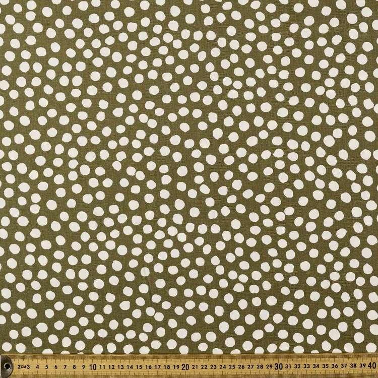 Dots Printed Buzoku Cotton Duck Fabric