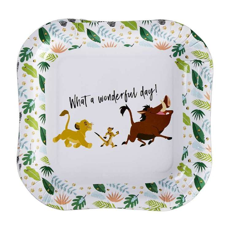 Amscan Lion King Square Plates