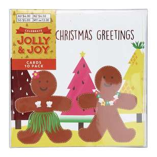 Jolly & Joy Celebrate 10 Pack Summer Christmas Cards