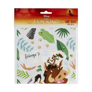 Amscan Lion King Folded Loot Bag