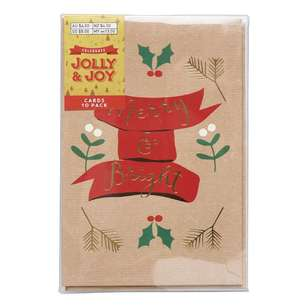Jolly & Joy Celebrate 10 Pack Bauble Christmas Cards