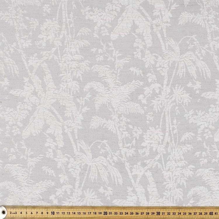 Tropical Leaf Jacquard Curtain Fabric