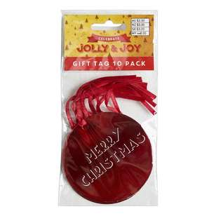 Jolly & Joy Celebrate Merry Christmas Gift Tag 10 Pack